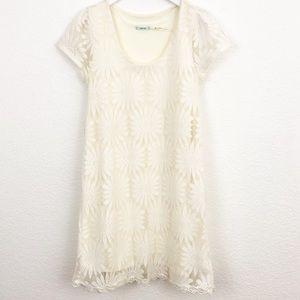 Urban Outfitters Kimchi Blue Lace Daisy Mini Dress